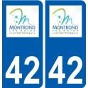 42 Montrond-les-Bains logo city sticker, plate sticker