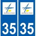 35 Argentré-du-Plessis logo blason autocollant plaque stickers ville