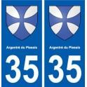 35 Argentré-du-Plessis blason autocollant plaque stickers ville