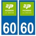 60 Oise PIcardie nouveau logo autocollant plaque