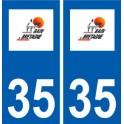 35 Bain-de-Bretagne logo blason autocollant plaque stickers ville