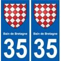 35 Bain-de-Bretagne blason autocollant plaque stickers ville