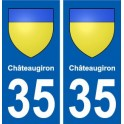 35 Châteaugiron coat of arms sticker plate stickers city