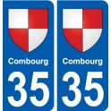 35 Combourg coat of arms sticker plate stickers city