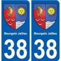 38 Bourgoin-Jallieu coat of arms sticker plate city