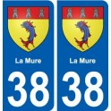 38 The Mure coat of arms sticker plate city