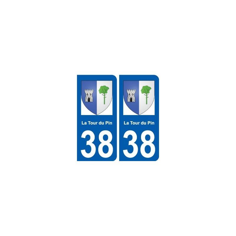 38 la tour du pin blason autocollant plaque for Piscine la tour du pin