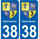 38 Saint-Ismier coat of arms, city sticker, plate sticker