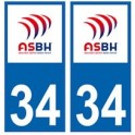 34 ASBH Bezier rugby sticker plate