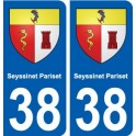 38 Seyssinet-Pariset blason ville autocollant plaque stickers