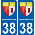 38 Seyssinet-Pariset blason ville autocollant plaque stickers