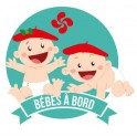 Sticker Baby on board baby basque stickers adhesive logo 5
