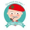 Autocollant retraité à bord basque stickers adhésif