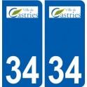 34 Castries logo ville autocollant plaque stickers
