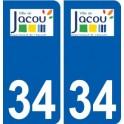 34 Jacou logo city sticker, plate sticker
