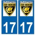 17 Atlantique stade rochelais rugby autocollant plaque