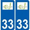 33 Ambarès-et-Lagrave logo ville autocollant plaque stickers