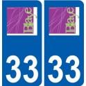 33 Blaye logo city sticker, plate sticker