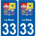 33-Apro coat of arms, city sticker, plate sticker