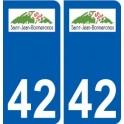 42 Saint-Jean-Bonnefonds logo ville autocollant plaque stickers