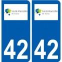 42 Saint-Marcellin-en-Forez logo city sticker, plate sticker