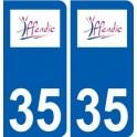35 Iffendic logo sticker plate stickers city