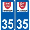 35 La Guerche-de-Bretagne logo autocollant plaque stickers ville