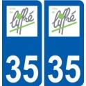 35 Liffre logo sticker plate stickers city
