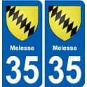 35 Melesse blason autocollant plaque stickers ville