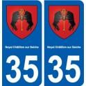 35 Noyal-Châtillon-sur-Seiche blason autocollant plaque stickers ville