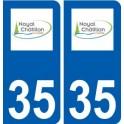 35 Noyal-Châtillon-sur-Seiche logo sticker plate stickers city