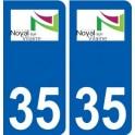 35 Noyal-sur-Vilaine logo autocollant plaque stickers ville