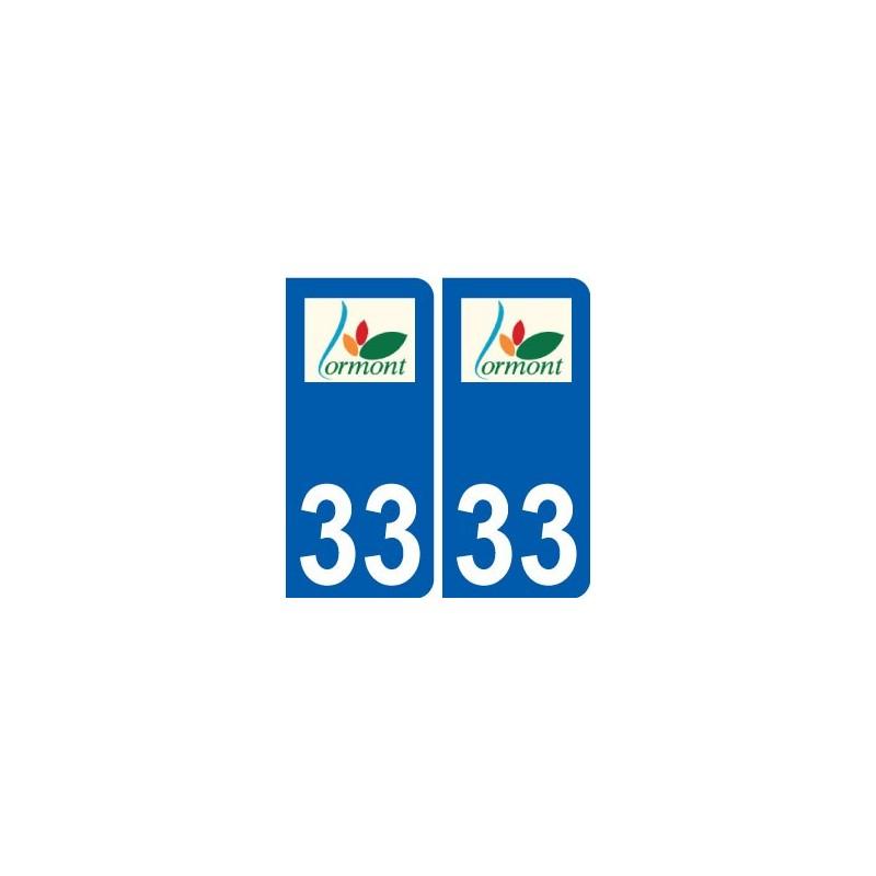 33 lormont logo ville sticker autocollant plaque. Black Bedroom Furniture Sets. Home Design Ideas