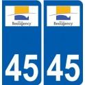 45 Beaugency city logo sticker plate