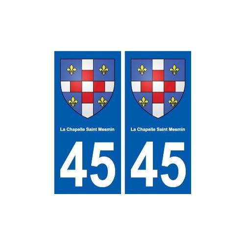 45 La Chapelle-Saint-Mesmin ville blason autocollant plaque
