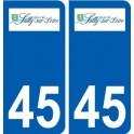 45 Sully-sur-Loire logo ville autocollant plaque stickers