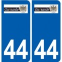 44 Guérande logo ville autocollant plaque stickers