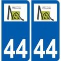 44 Mésanger logo ville autocollant plaque stickers