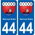 44 Nort-sur-Erdre coat of arms, city sticker, plate sticker