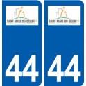 44 Saint-Mars-du-Desert logo city sticker, plate sticker