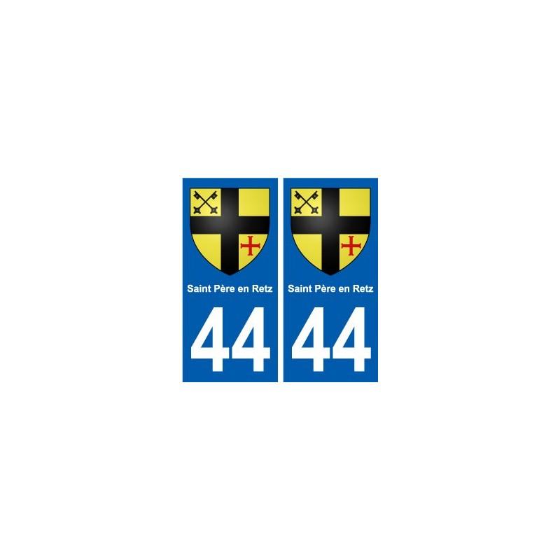 44 saint p re en retz blason autocollant plaque immatriculation blason armoiries stickers. Black Bedroom Furniture Sets. Home Design Ideas