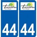 44 Treillières logo ville autocollant plaque stickers
