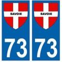 73 croix Savoie blason autocollant plaque