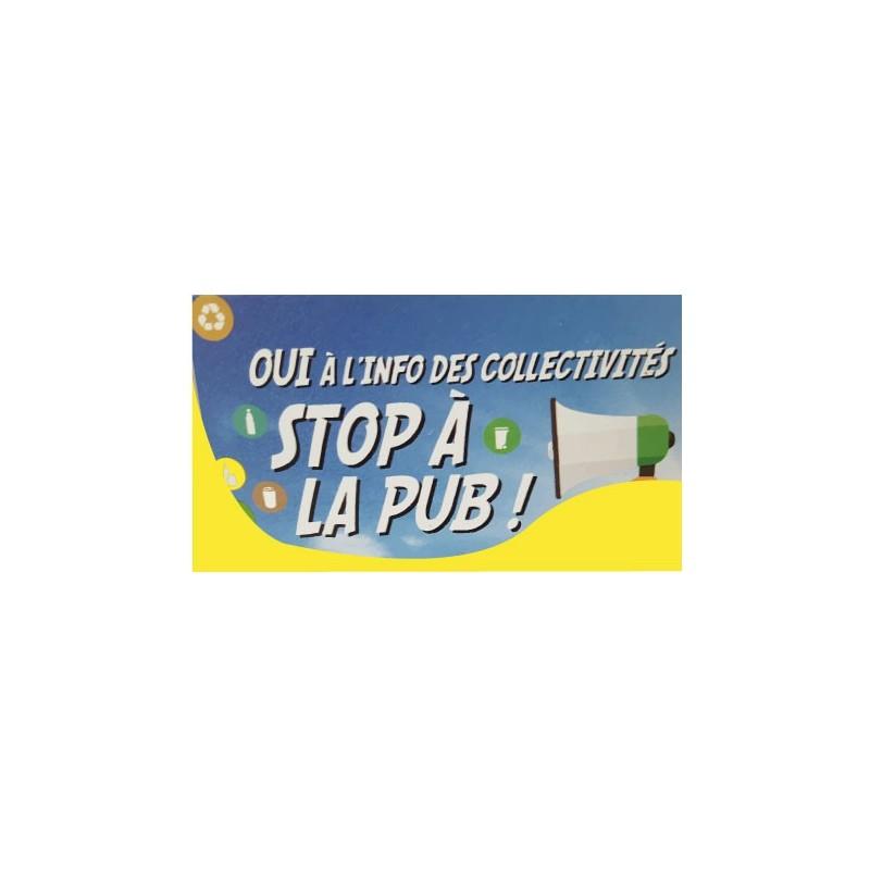 autocollant sticker stop pub 2 boite lettres stickers adh sif. Black Bedroom Furniture Sets. Home Design Ideas