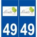 49 Angers blason autocollant plaque stickers ville
