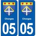 05 Chorges blason ville autocollant plaque stickers
