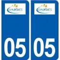 05 Chorges logo ville autocollant plaque stickers
