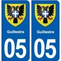05 Guillestre blason ville autocollant plaque stickers