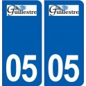 05 Guillestre logo ville autocollant plaque stickers