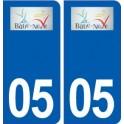 05 La Bâtie-Neuve logo ville autocollant plaque stickers